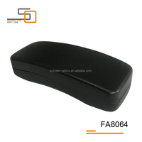High quality fancy special black PU leather new hard glasses case