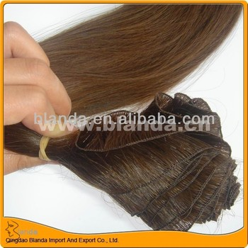 European hair weave handmade hair weft
