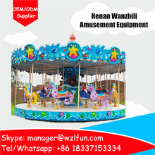 high quality used playground equipment merry go round, rotating carousel, single decker merry go round