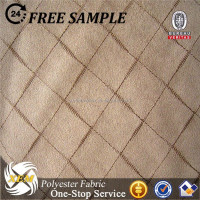 Polyester woven suede fabric plaid design