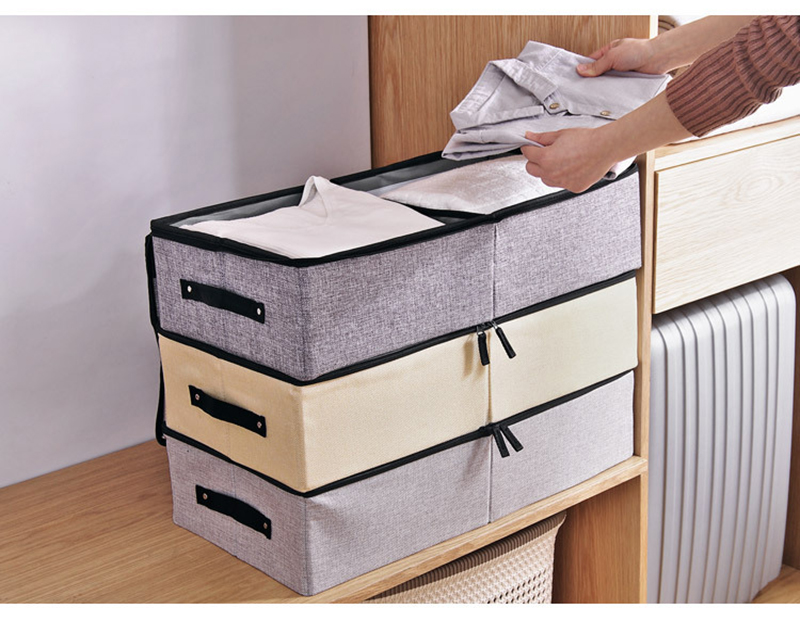 Multifunctional Underbed Foldable Clear Storage Box Shoes Divider