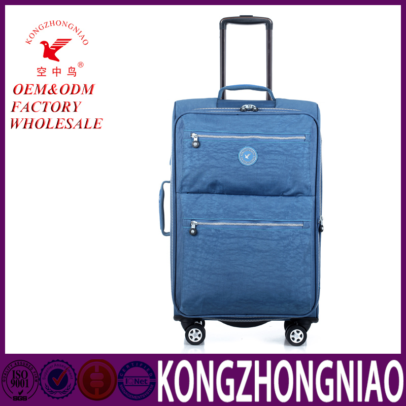 External good looking functional trolley soft nylon luggage bags