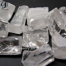 Wuzhou synthetic gems white cz stone raw material rough uncut diamond