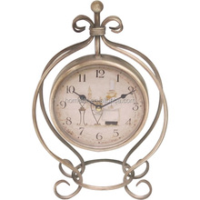 New Antique Metal Clock Customized Creative Design Decorative Table Clocks