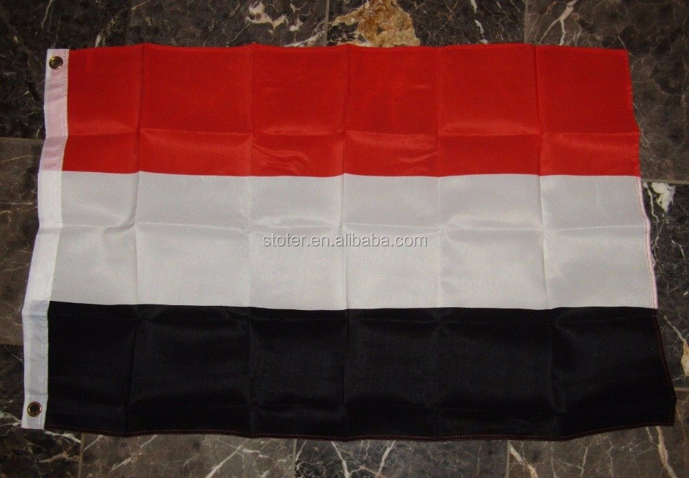 100% polyester printed Yemen country flag