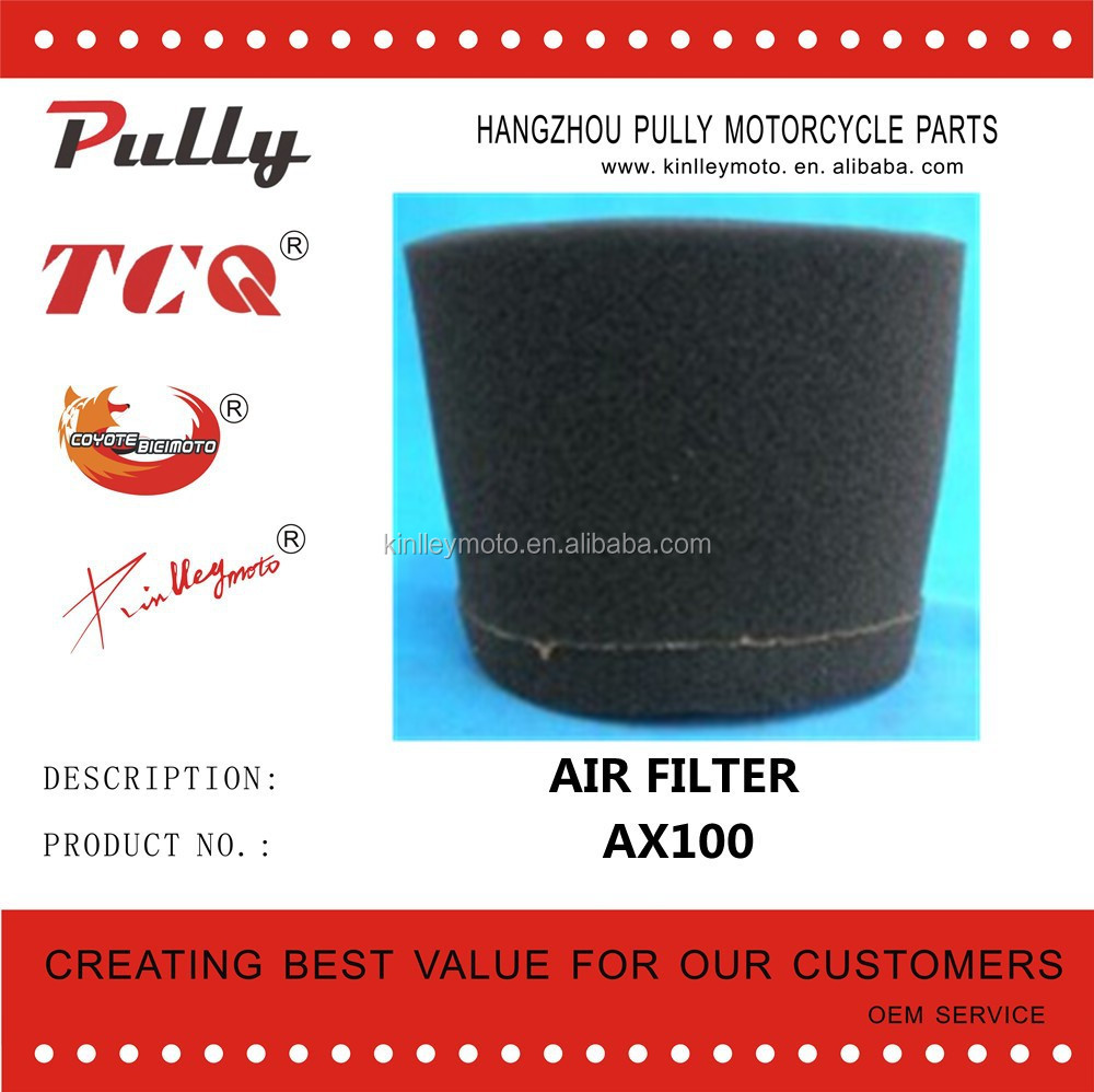 Wholesale Motorcycle Parts Motorcycle Engine Esponja Air Filter ax 100