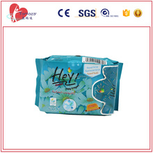 blue cotton sanitary napkin pad with negative ion