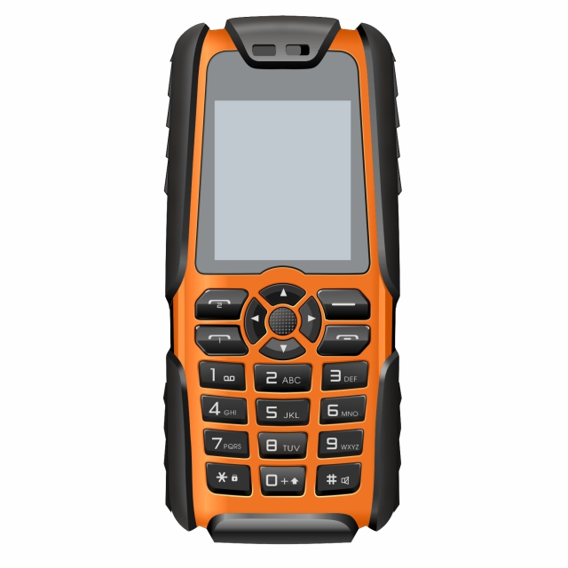 New 2G 32Mb+32Mb Dual 2 Sim Mobile Phone High Power Dust-Proof Water Resistant, Shock Proof Military Fashion Feature Cell Phone
