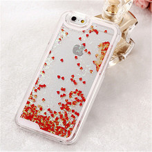 Mobile Phone Moving Lover Glitter Quick sand Liquid Bling Case For iphone 5