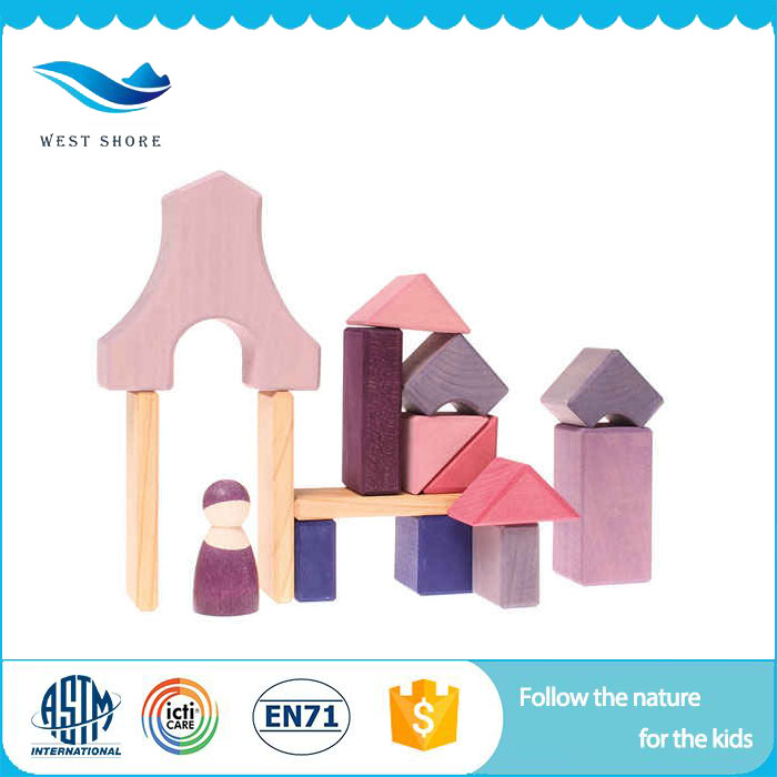 Factory Price Doll House Set Toy Blocks Doll House Wooden Kids Manufacturer