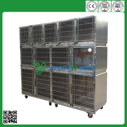 veterinary stainless steel cheap dog cage