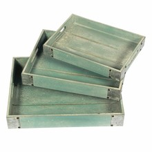 Industrial rectangle buffet serving tray silver plated serving trays