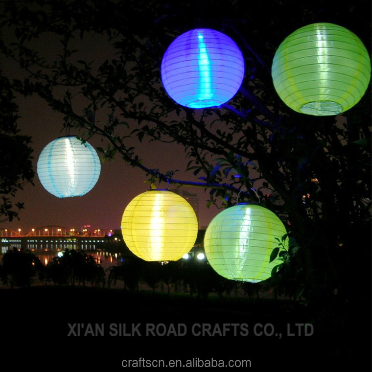 Most popular nylon fabric solar powered lantern