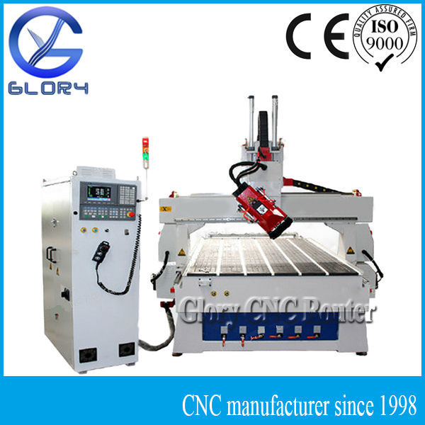 4 Axis Rotate Spindle ATC CNC Router with Heavy Duty and Metal Table