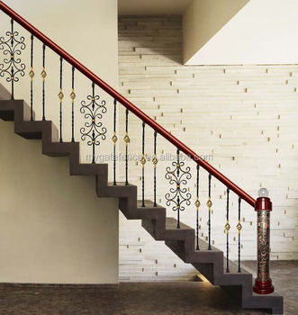 Yishujia Factory House Iron Stair Railings, Wrought Iron Stair Panels And  Balustrades For Sale