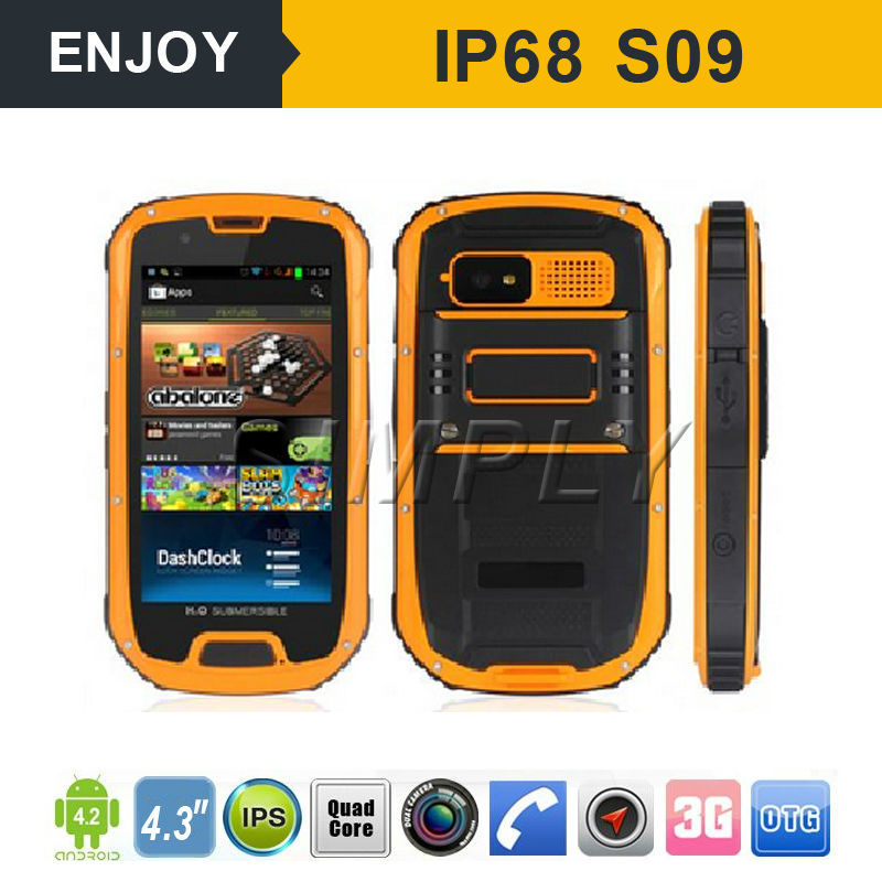 Latest android 4.4 active dual sim waterproof shockproof rugged phone