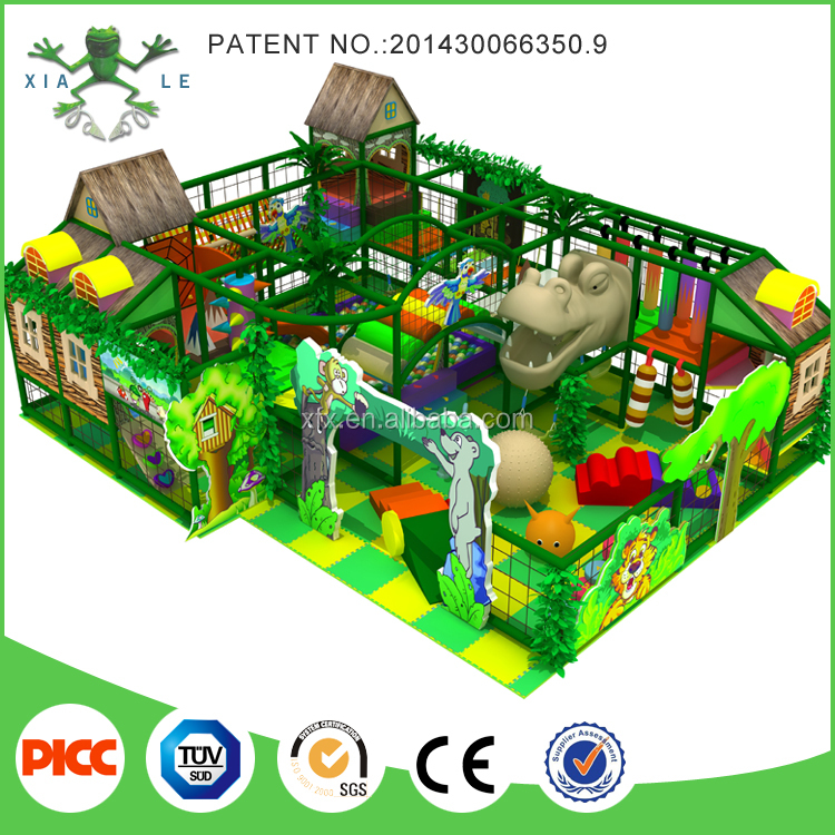 Jungle theme galvanized tube and LLDPE Material used school kids indoor play structure for sale