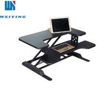 Flexible black motorized adjustable height table