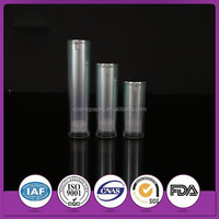 Transparent plastic cosmetic bottles and jars in cosmetic jars with free samples