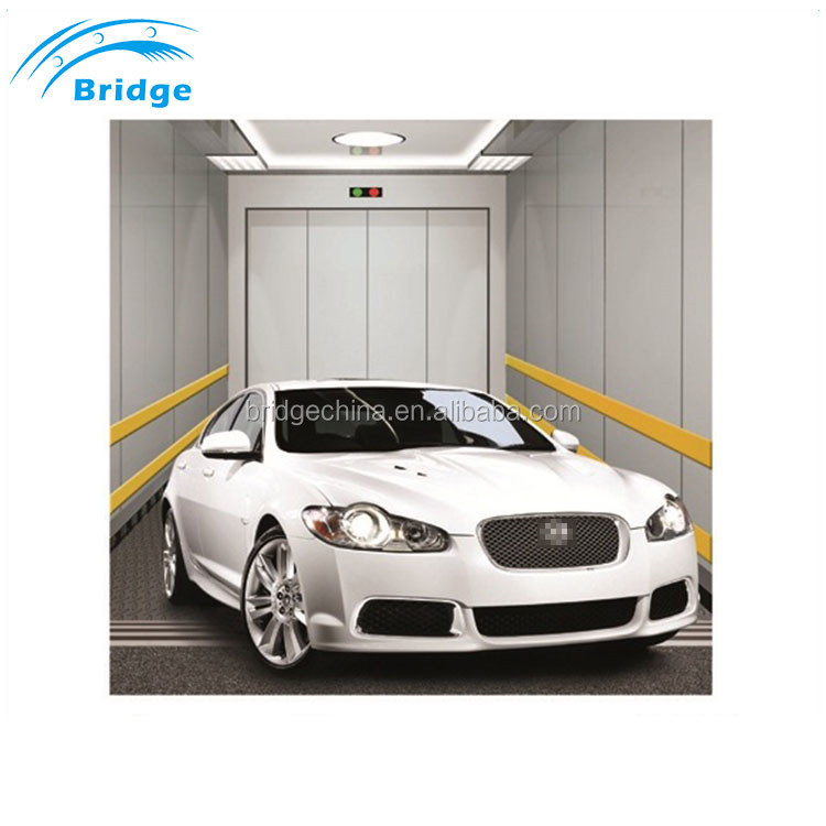 Auto 2 Level Low Luxurious Panoramic Glass Home Car Lift