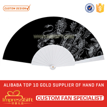 Personalized portable custom folding plastic ribs hand held fan with your own logo