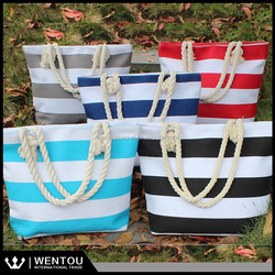 The Perfect Extra Large Monogrammed Stripe Beach Bag