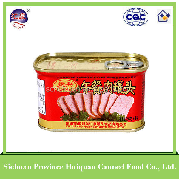 China supplier canned pork luncheon meat supplier