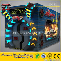 Roller coaster cinema 9D hydrraulic electric control system, Theme park 9d cinema simulator with cabin for sale