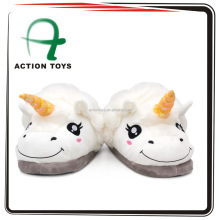1Pair Plush Unicorn Slippers for Grown Ups Winter Warm Indoor Slippers