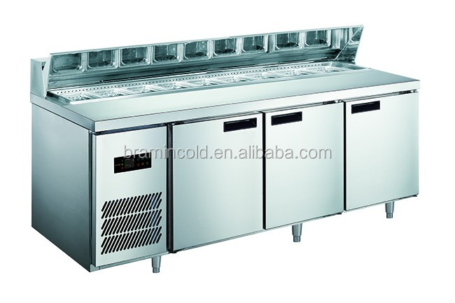 Commercial Salad Bar Display Sandwich Counter Cabinet Prep Table