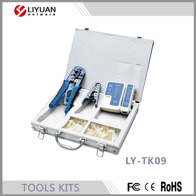 LY-TK09 Factory directly provide Crimping Tool and Cable Tester Tools kits
