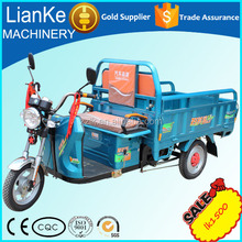 Farmer high quality older electric trishaw/lowest price E-quadricycle carriage box