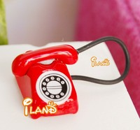 Doll house Miniature Red Modern Phone for dollhouse decoration HC002C