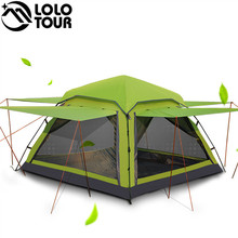 Green 3-4 person Outdoor Large Luxury Tent Canopy for sale Waterproof Ultraviolet-proof Full Ventilation Camping Family Tent