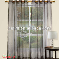 Latest Window Design 2016 Colorful Strip Sheer Decorative Door Curtains With Eyelets