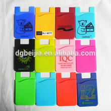 Silicon card holder,silicon credit card holder,mobile phone case card holder wallet/ cell phone pocket
