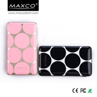 Big Polka dot design of 10000mah power bank polymer for smart mobile phone