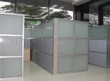 Popular Cheap Office Used Low Half Glass Wall Partition(SZ-WS587)