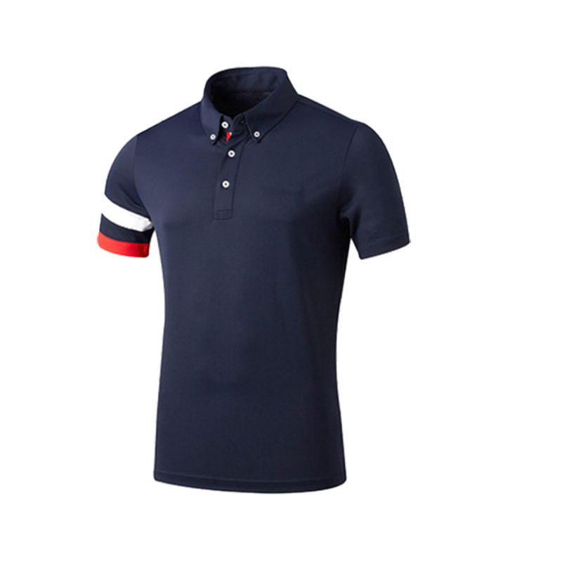 Multicolor Mens Plain Stock Wholesale Cheap Polo T Shirts With Irregular Sleeve Color