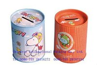 Metal custom schoolbus shape money tin can boxes with lid for promotion