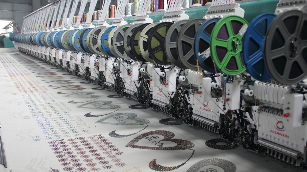 9 needle 24 head Pakistan high speed automatic computerized embroidery machine popular type embroidery machine