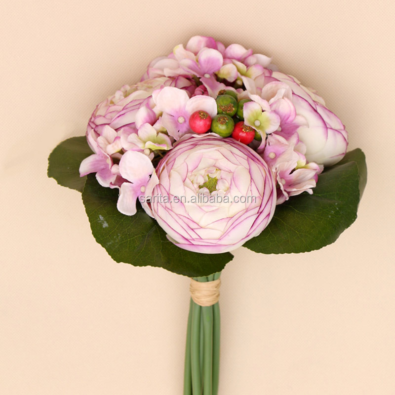 artificial camellia flower bouquet christmas decoration and market in guangzhou