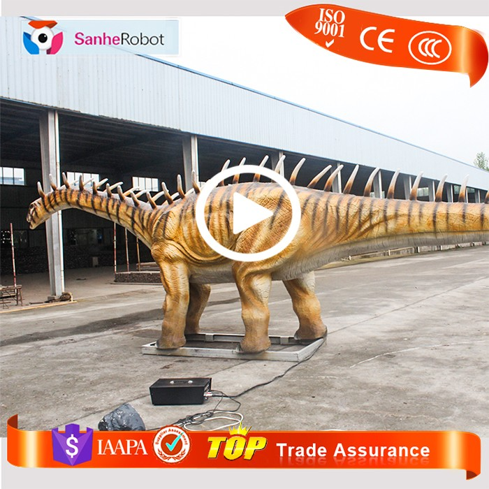 7meters long,2.4meter high,animatronic dinosaur playground equipment amargasaurus family