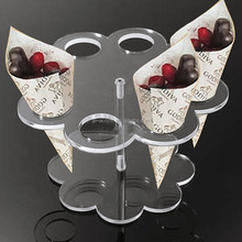 Countertop 8 holes flower clear acrylic ice cream stand for wedding party