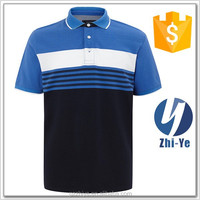 new arrival sport style chest stripe polo shirt from China