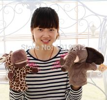 25cm Nici plush hand puppet elephant / giraffe / hedgehog / gorilla / sheep / frog / dog / hippo / donkey birthday gift 3pcs/lot