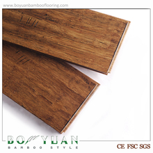 Handscraped Chocolate Color Strand Woven Bamboo Flooring