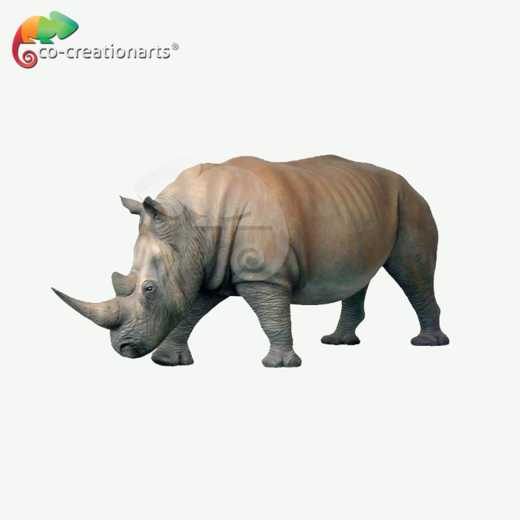 Large High Simulation Animatronic animal Rhinoceros Molds