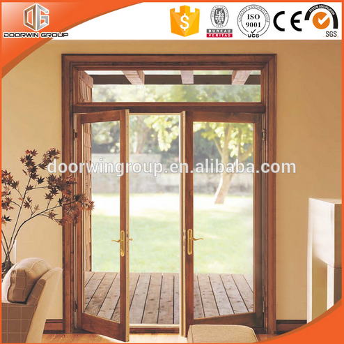 2017 Lasted Doors High Quality Solid wood French Door Double Sash In China For Sale