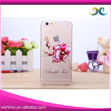 2016 New Arrival Fashion Flower Design pc Hard Back Phone Case customise Cover for iPhone SE / 6S